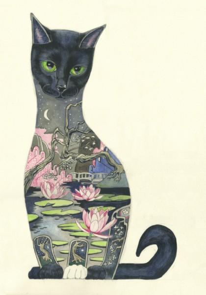 難しい黒猫のイラストを書くときの7つのポイント